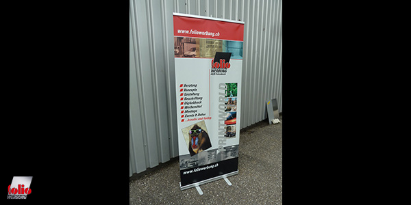 Folio Werbung Rollbanner Rollup spez. Material